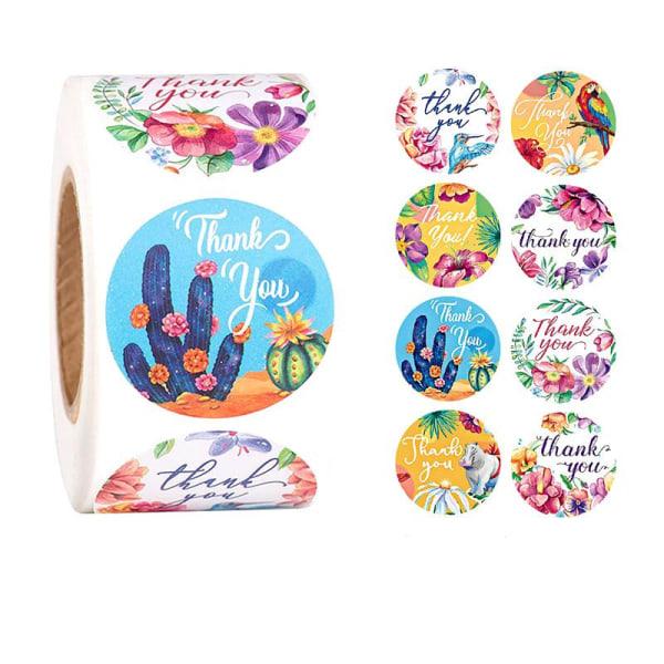 500 tarraa tarrat - Kiitos motiivi - Sarjakuva Multicolor