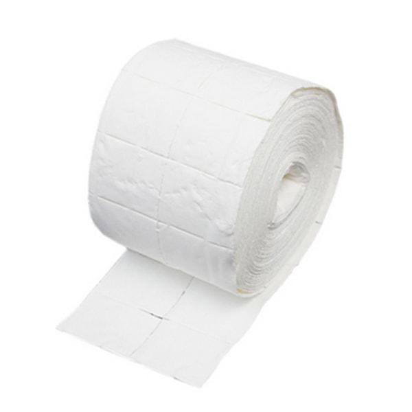 500 kpl tyynyjä, kynsipyyhkeitä rullassa White