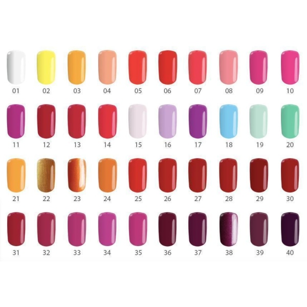 Gellack - Flexy - * 25 4,5 g UV -gel / LED Red