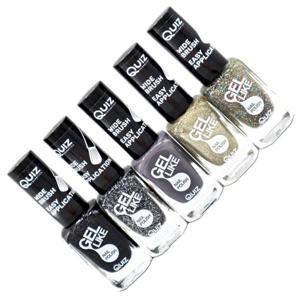5st nagellack, nail polish - Space  multifärg