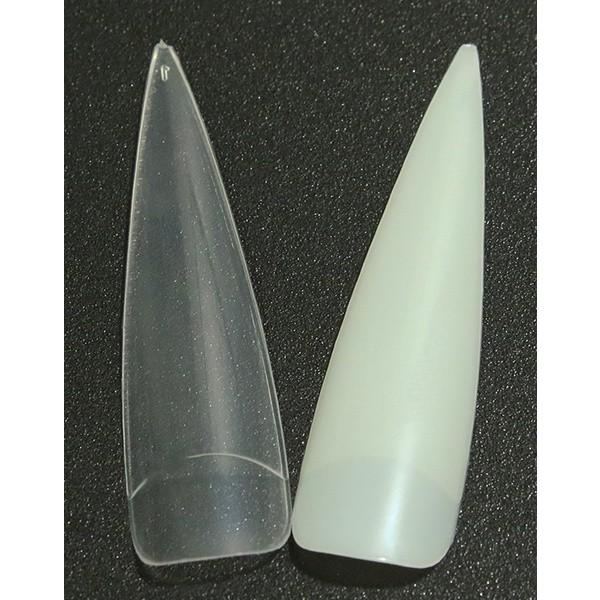24 kynsien kärkeä stiletto erittäin pitkät kärjet löysät kynnet kynsivihjeet Transparent