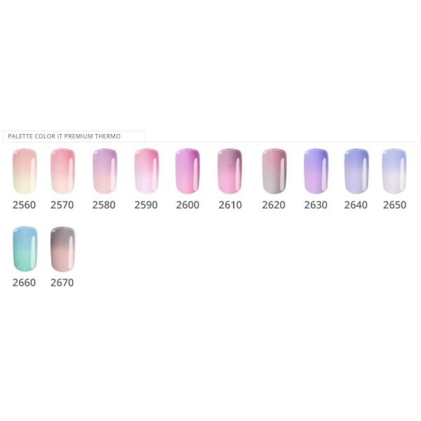 Gellack - Väri IT - Premium - Thermo - * 2600 UV -geeli / LED Pink