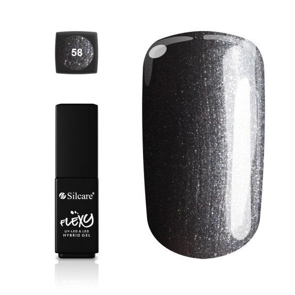 Gellack - Flexy - * 58 4,5 g UV -gel / LED Silver