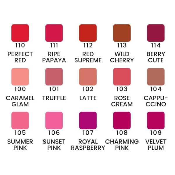 Velvet lipstick - läppstift - 6 färger - Quiz Cosmetic Rose Cream