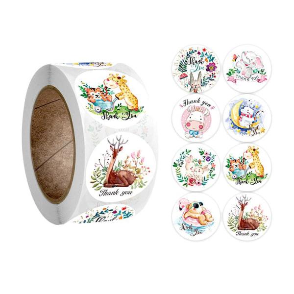 500 tarratarraa - Eläinkuvioita - Sarjakuva Multicolor