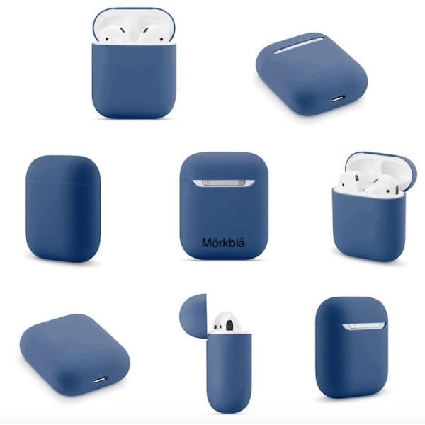 AirPods Silikon skal - Fodral / Skydd - Flera färger Mörkblå