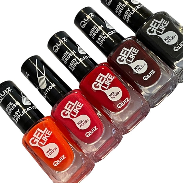 5st nagellack, nail polish - Mixade färger multifärg