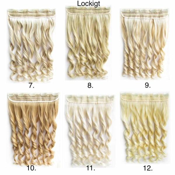 Clip -on / Hair extensions krøllet og lige 70cm - Flere farver Lockigt - 7