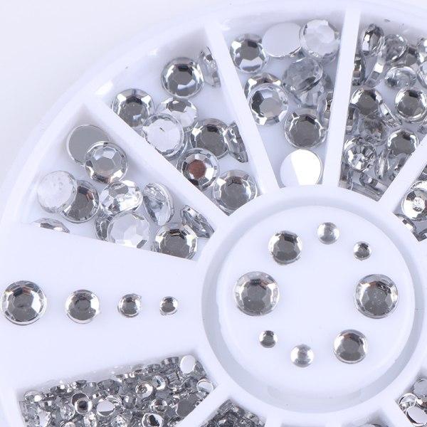 Rhinestone 4-storlekar - Silver Clear Silver