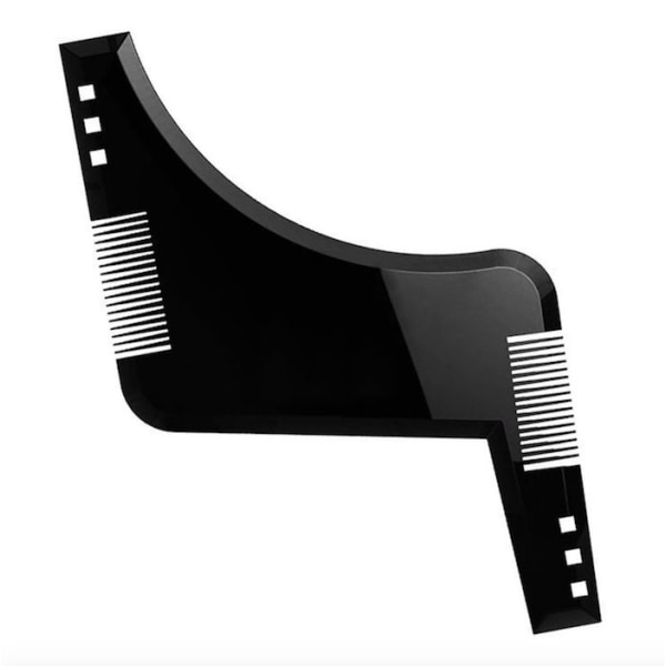 Rejält skägg styling verktyg med skäggkam Svart