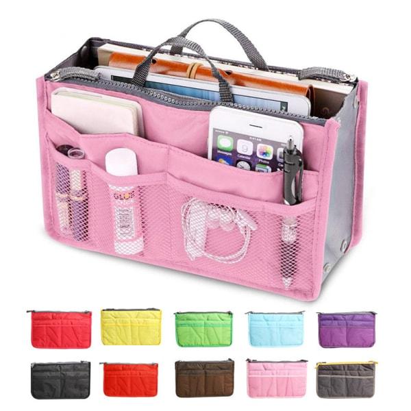 Bag in bag väskinsats necessär Ljusrosa