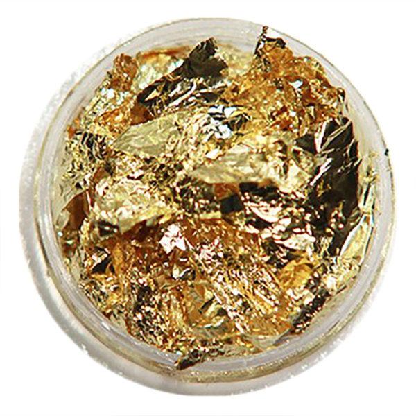 1 st burk guld folie flakes Guld