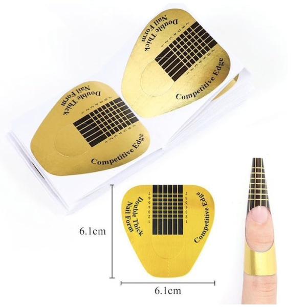 50st Nagelmallar nagelformar nagelmall nailform nailforms