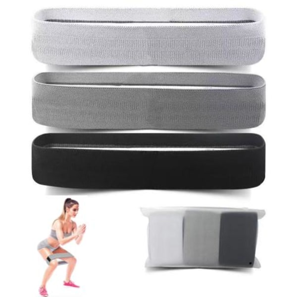 3-pak Booty band kit, Motionsbånd, Resistance band, rehab Multicolor one size