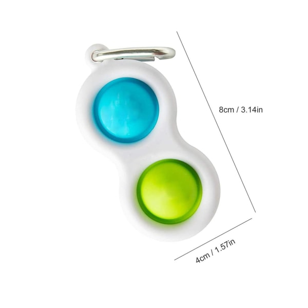 Yksinkertainen kuoppa, MINI Pop it Fidget Finger Toy / Toy- CE Orange - Grön