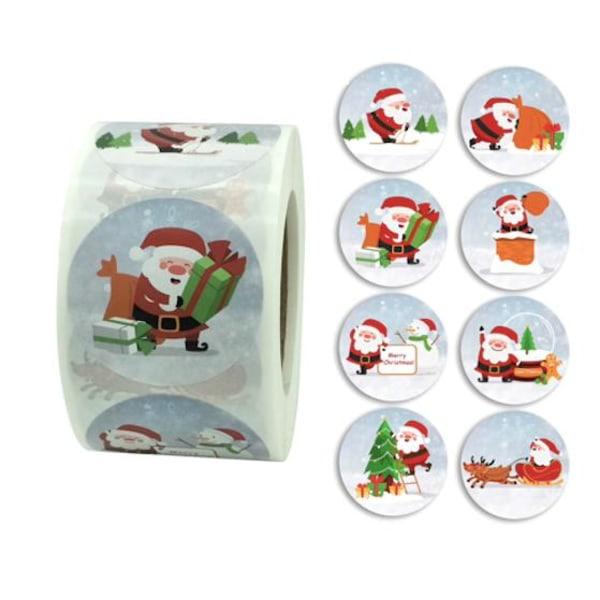 500st julstickers stickers klistermärken - Juldekorationer multifärg