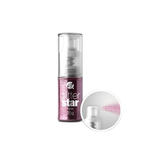 Negleglitter i pumpeflaske - Pink 25g
