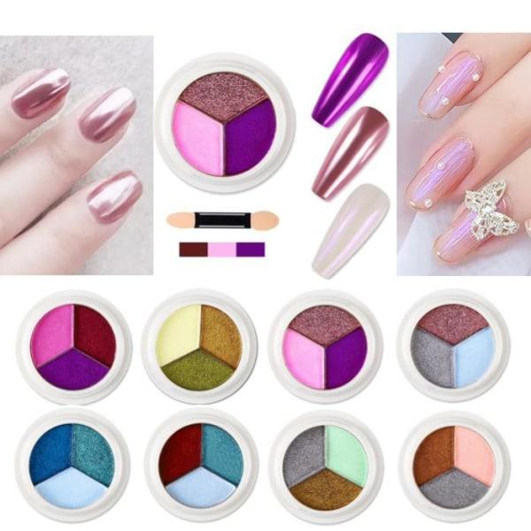 Magic Mirror Solid Nail Glitter Powder - Pigment - Nageldekorati Nr - 06