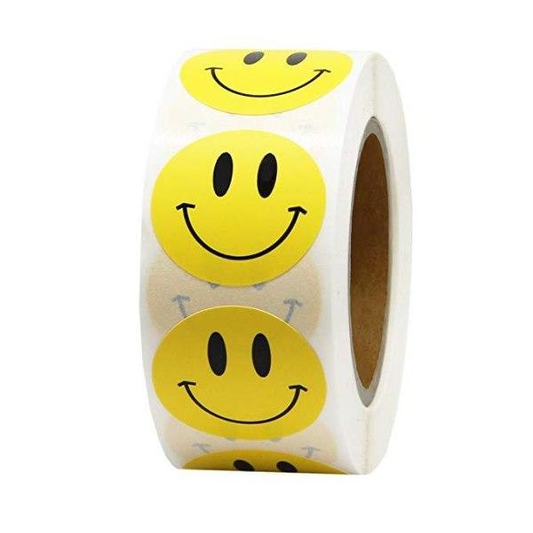 500st stickers klistermärken - Smiley Emoji Gul