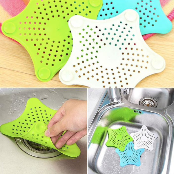 Avlopp skydd / filter i silikon för diskho, badkar, dusch multifärg