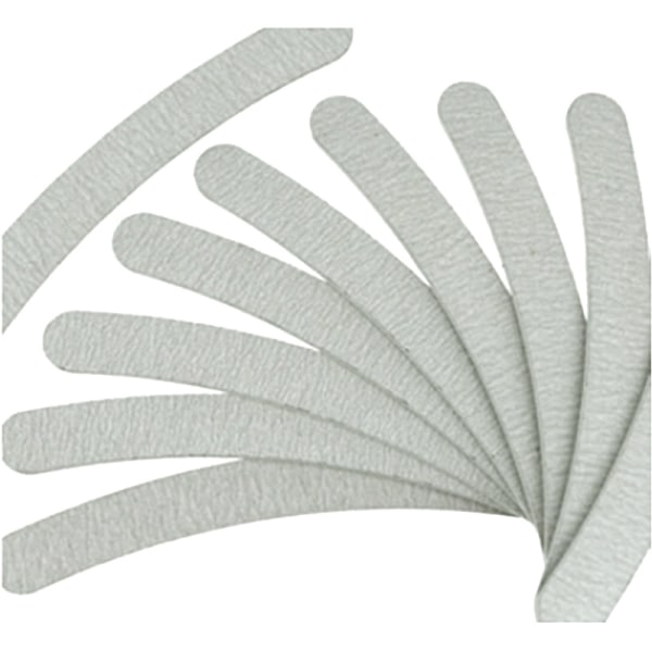 3 pcs nail files bananashape - zebra 100/180 Grey