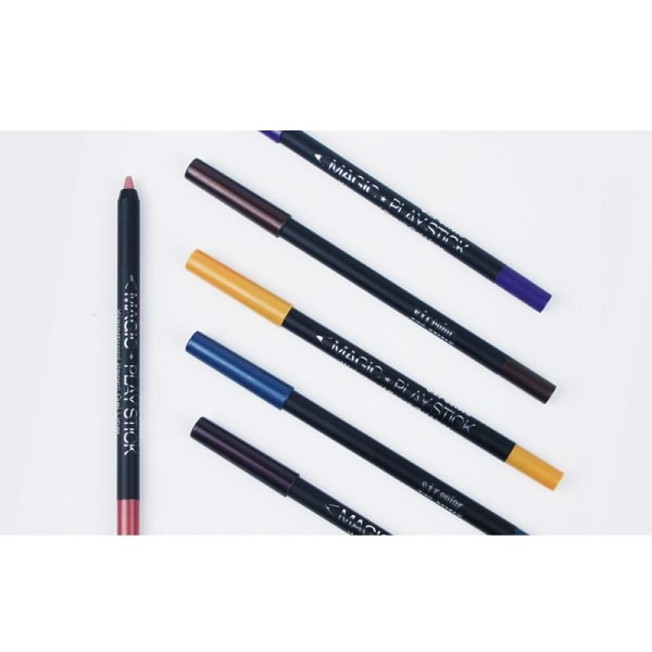 12 stk Eyeliner Lipliner øjenblyant læbestift makeup Multicolor