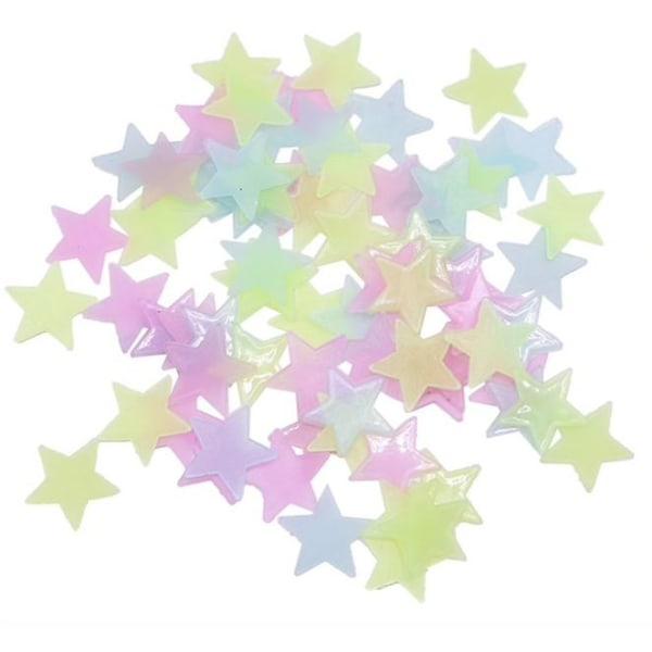 100st självlysande stjärnor , tak/väggdekorationer