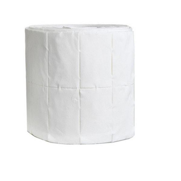 500 stk puder, negleservietter på rulle White