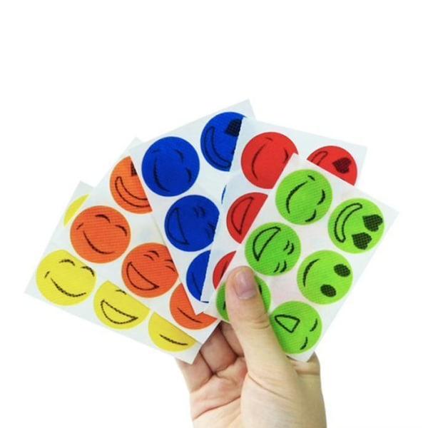 Myggavvisande klistermärken 120st - Mosquito Repellent Stickers multifärg