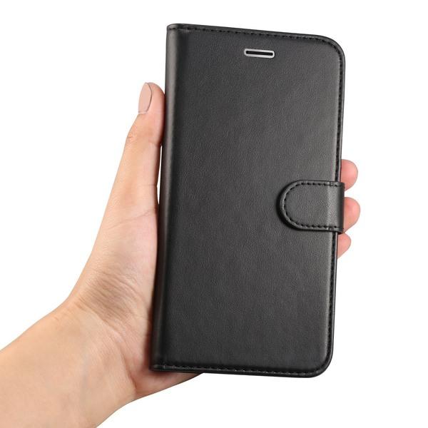 Plånboksfodral iPhone 6 / 6s | Läder | 3 kort + ID svart Svart