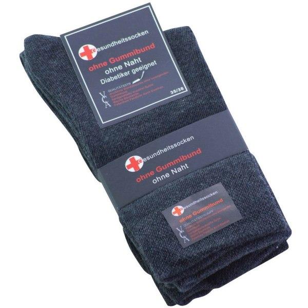 Diabetesstrumpor 6-Pack Antracit 43-46