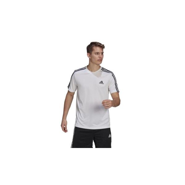 Adidas Aeroready Designed TO Move Sport 3STRIPES Tee Vit 176 - 181 cm/L