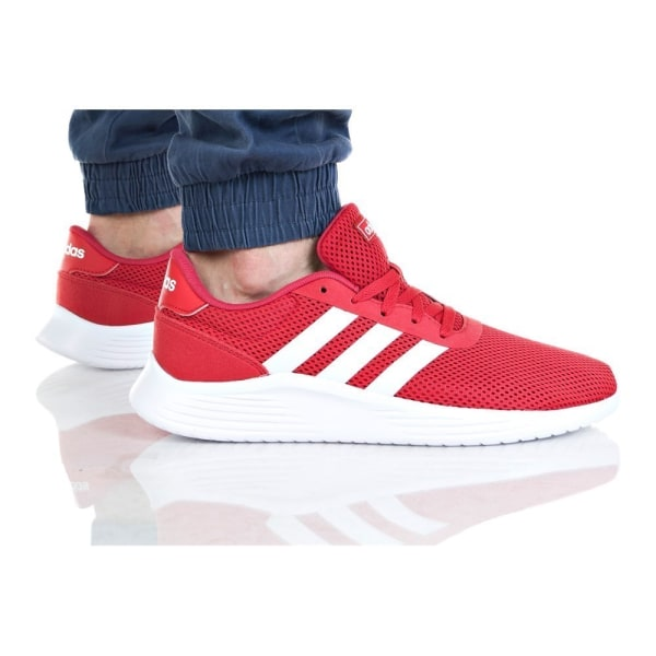 Adidas Lite Racer 20 Vit,Röda 43 1/3