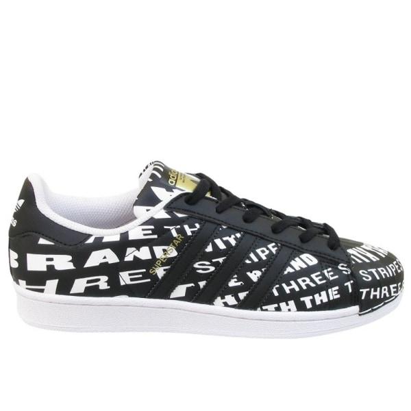Adidas Superstar J Svarta,Vit 37 1/3