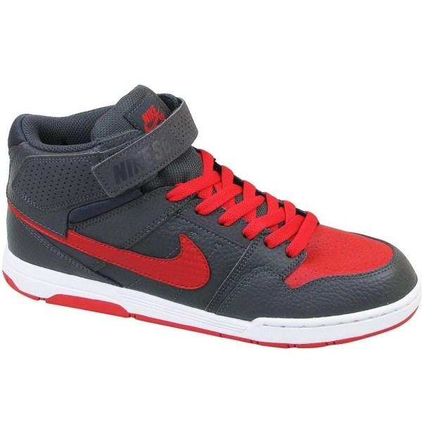 Nike Mogan Mid 2 JR B Grafit,Röda 38