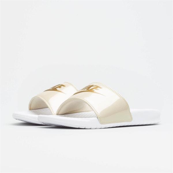Nike Wmns Benassi Jdi Print Vit,Beige 35.5