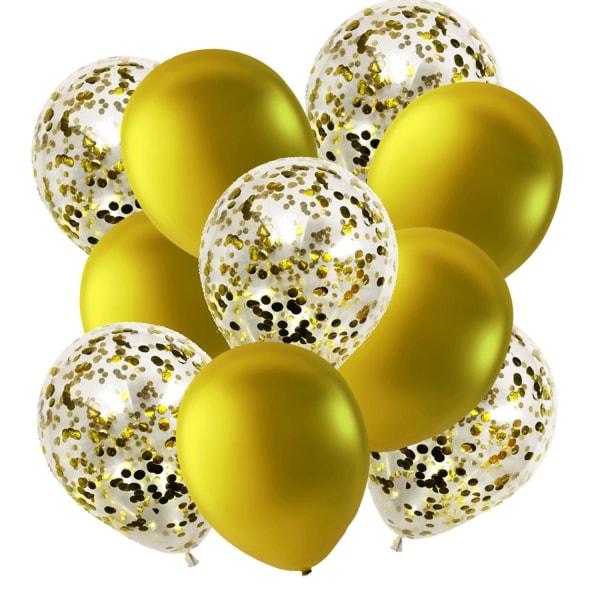 Ballonger Guld och Konfettiballonger | Kalas | Födelsedag | Fest Guld