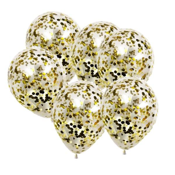 Ballonger med konfetti i Guldfärg  Guld