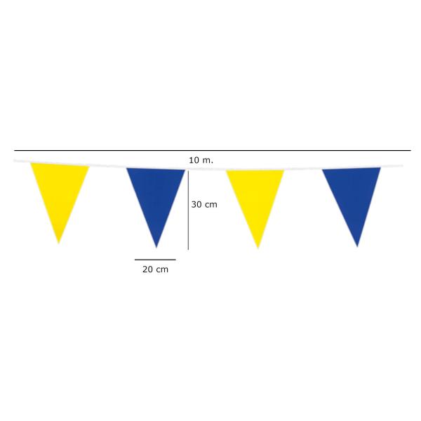 Flaggirlang | Vimpelgirlang | Vimpel 10 meter gul och blå multifärg