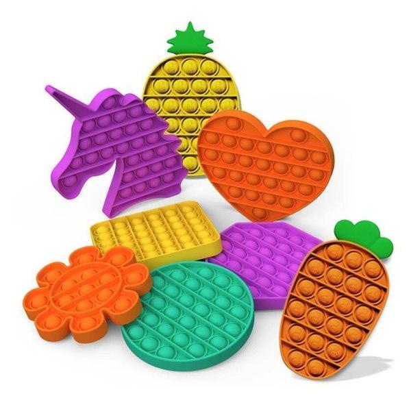 Pop it- Fidget Toy / Fidget Leksak- Flera färger och modeller Purple Enhörning- Lila
