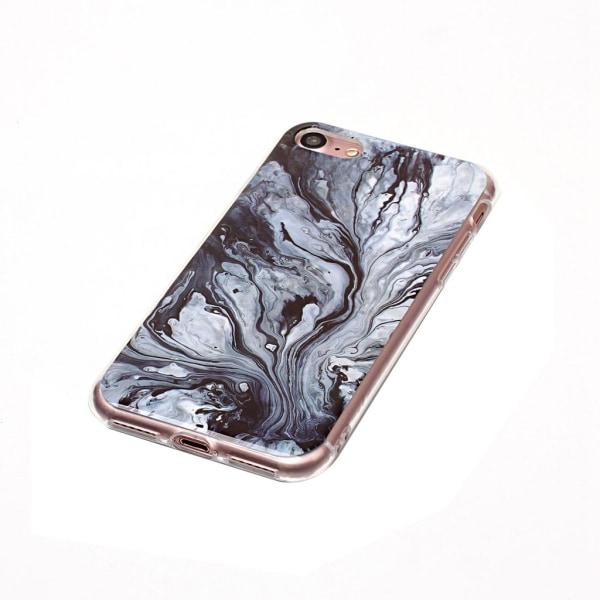 Svart och grå marmor- skal för iPhone 7 / 8 multifärg