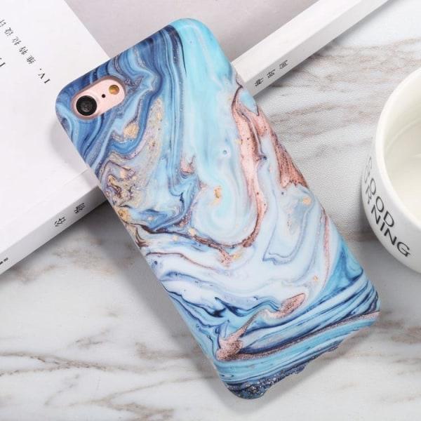 Blått marmor skal - till iPhone 7/8/SE 2020 Blå