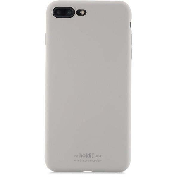 Holdit- iPhone 8 Plus - MOBILSKAL SILIKON TAUPE grå