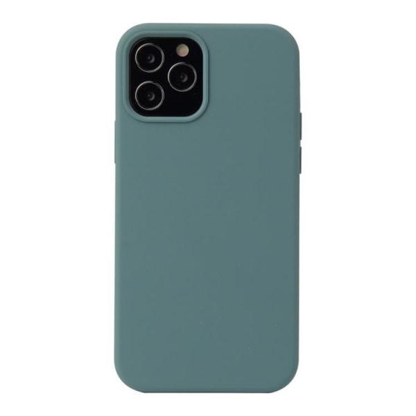 iPhone 12 MINI - Silicone Case - Mobilskal i silikon Mörkgrön