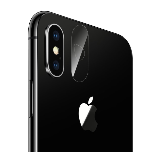 iPhone Xs Max - Stöttåligt - Härdat Kameraglas Transparent