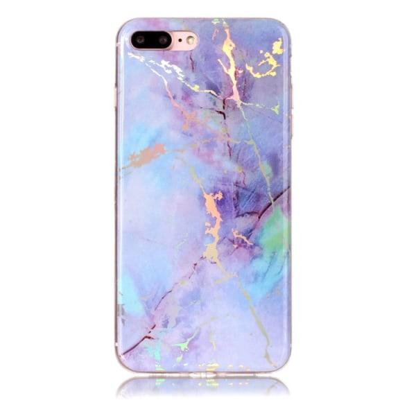 Lila marmor- skal för iPhone 7 plus multifärg