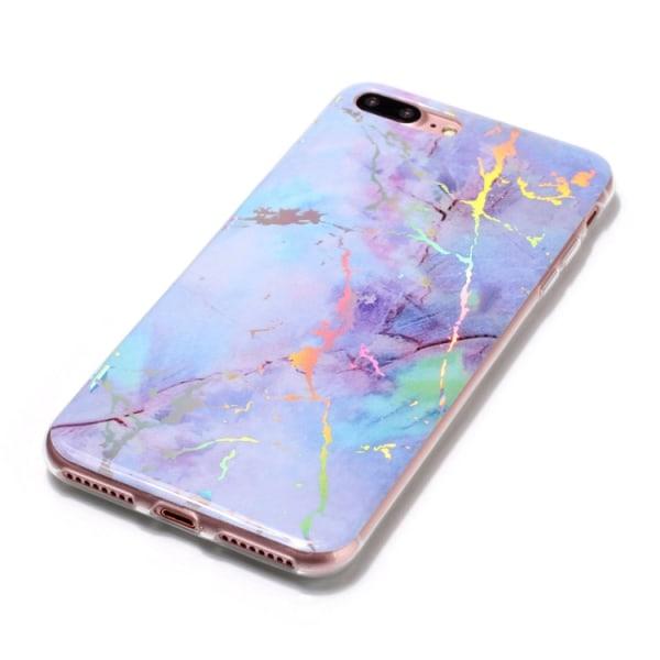 Lila marmor- skal för iPhone 8 plus multifärg