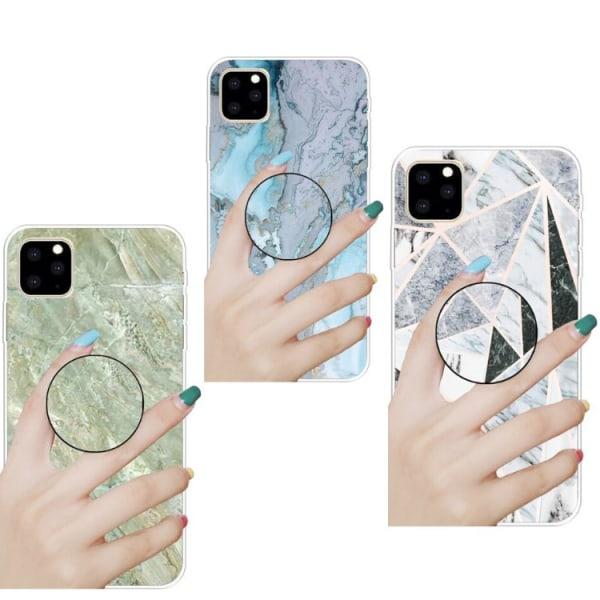 Marmor skal med smart knapp för iPhone 11  Blå