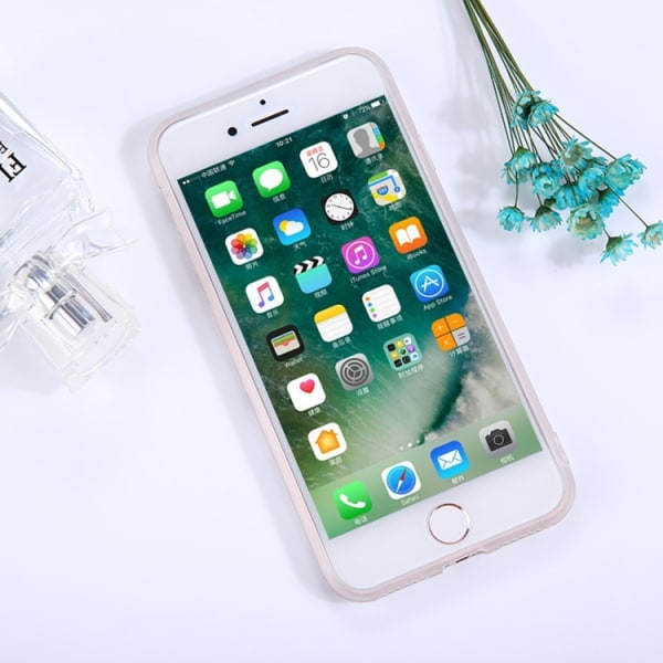 Marmor Sten TPU-skal för iPhone 7 plus Vit