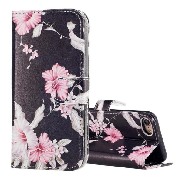 Plånbok med  mönster av blommor till iPhone 7/8/SE 2020 multifärg